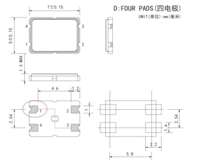 现在电子科技的进步,使之以前大规模使用的插件晶振,都被小型,轻薄的贴片晶振所取代。以前大家所熟知的插件晶振,普遍为2脚的,但是贴片晶振就不同。我们理清一下贴片晶振的规格。 1,2脚的贴片晶振一定是无源晶振。 2,4脚的贴片晶振可能是无源晶振,也有可能是有源晶振 3,四脚以上的贴片晶振一定是有源晶振 4,有源晶振本身印字有左下脚有个点 5,常见的贴片晶振规格有2.