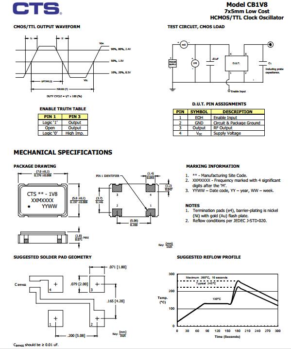cb1v8晶振,石英晶体振荡器
