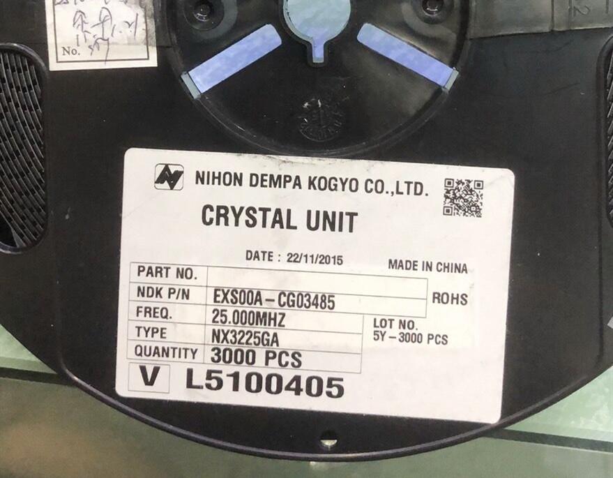 EXS00A-CG03485 NX3225GA晶振25M