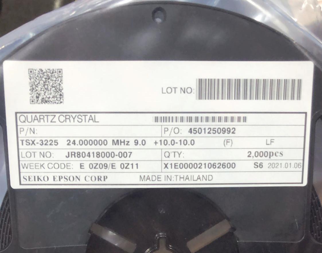 TSX-3225 24M 9PF X1E000021062600晶振